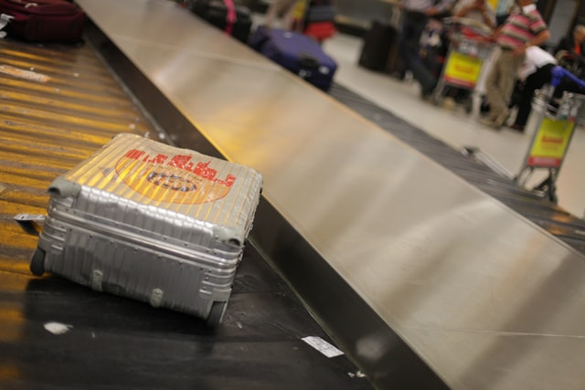 Rimowa Koffer op Bagageband